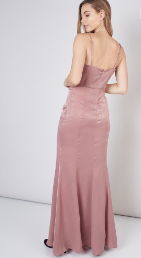 Drape side Maxi Dress