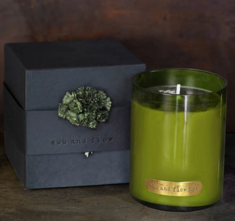 "JUNIPER CLOVE SOY CANDLE ""HOLIDAY FIR SCENT"""