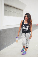 """I Run (to Jesus)"" Cropped Tank"