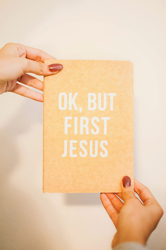 """Ok, But First Jesus"" Journal"