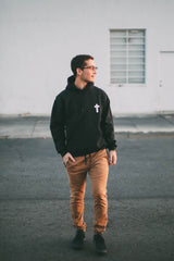 """Old Rugged Cross"" Black Pullover Hoodie"