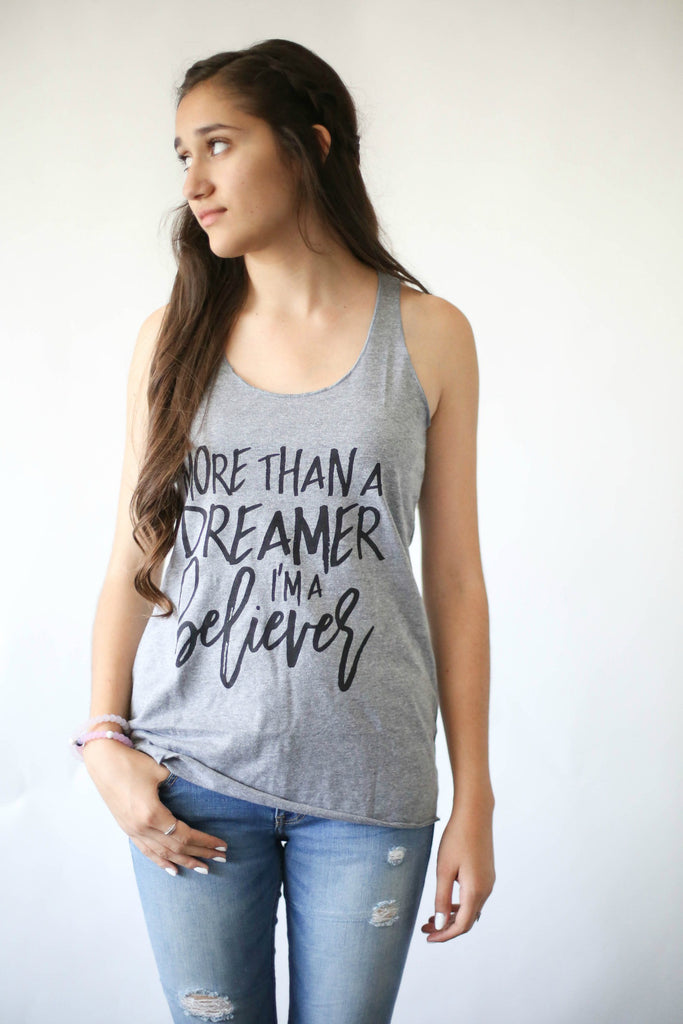 """More than a Dreamer"" Women's Racerback Tank"