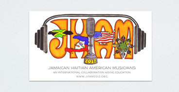 J H A M Sticker (3 pack)