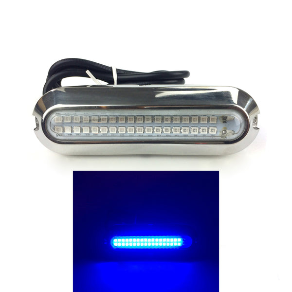 "5"" Underwater Light, 6 Watt, Blue, 29"" Wire lead, with Stainless Steel Cover"
