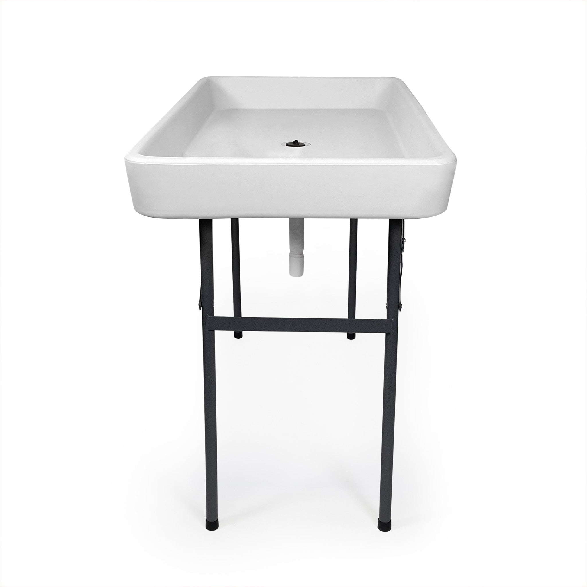 4 foot cooler ice table party table w skirt in white