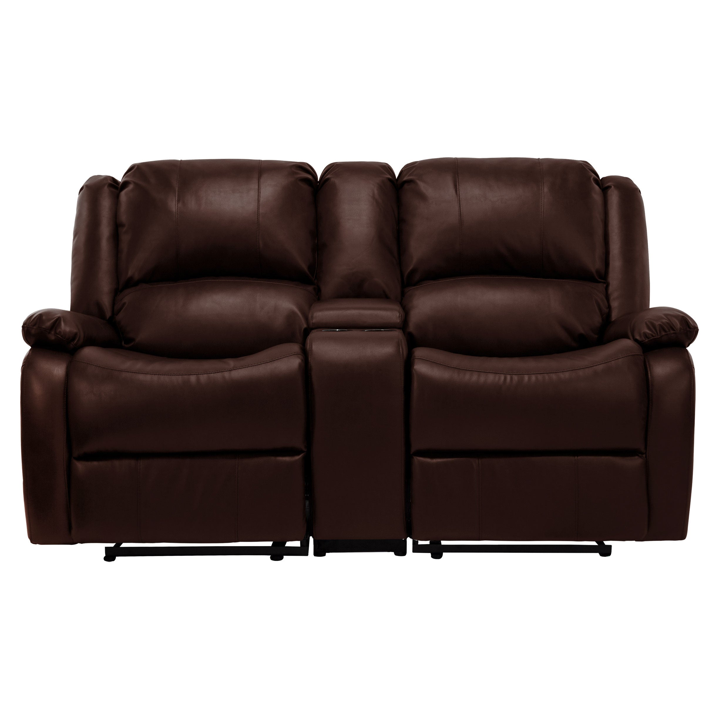 RecPro Charles 67  Double RV Zero Wall Hugger Recliner Sofa w/ Console Mahogany  sc 1 st  RecPro.com & RecPro Charles 67