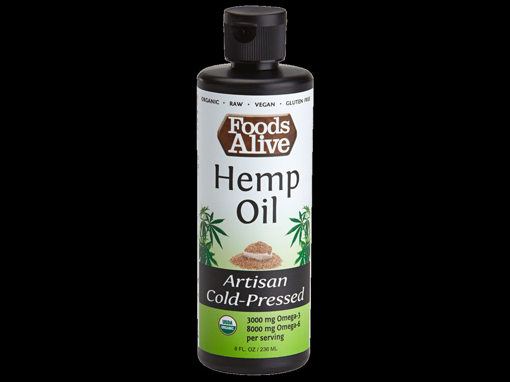 Foods Alive Artisan Cold Pressed Hemp Seed Oil Now Available at Hemp Angel Products