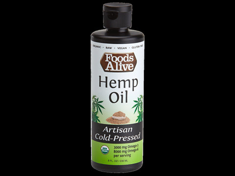 Artisan Cold Pressed 8 oz Hemp Oil