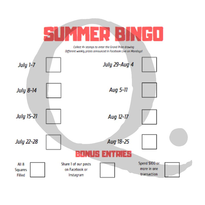 SUMMER BINGO IS HERE!