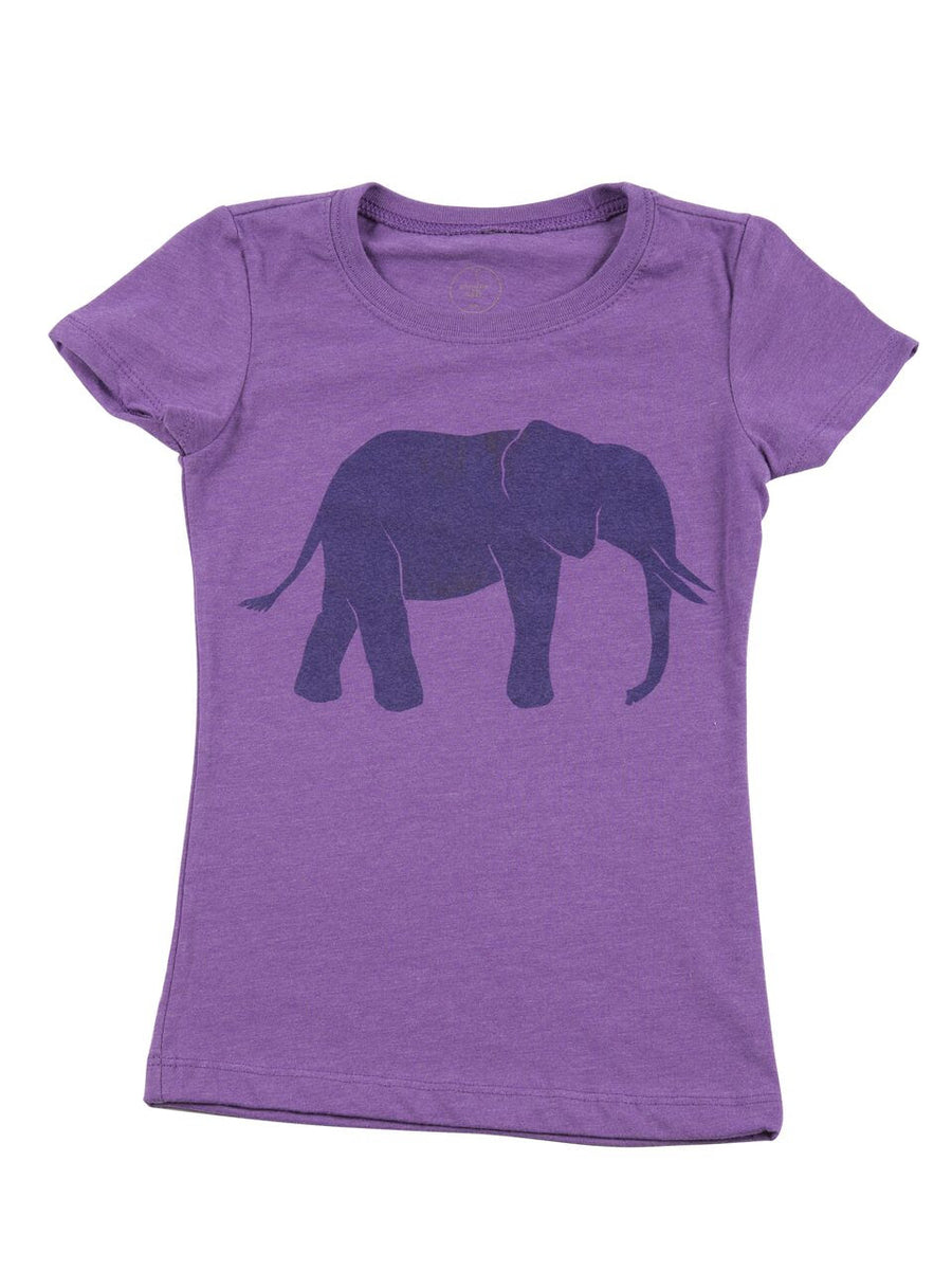 Cinder + Salt Girls Elephant Tee