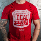 Oscar Mike Support Local Everything T-Shirt (Red)