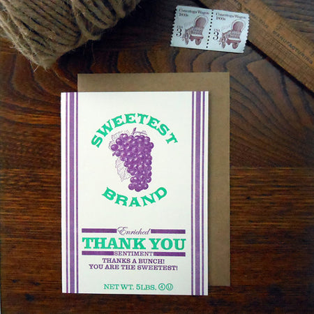 a. favorite design Letterpress Vintage Potato Sack Designs