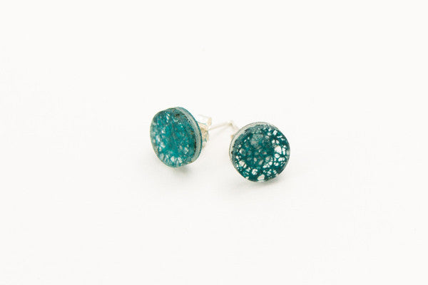 dconstruct Wild Silk Stud Circle Earrings