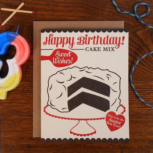 a. favorite design Letterpress Birthday Cards