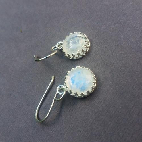 Gem Lounge Moonstone Bezel Earrings