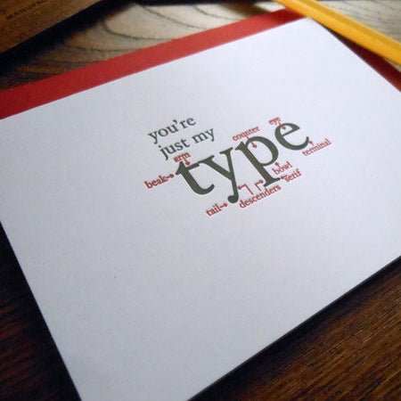 a. favorite design Letterpress Love Cards