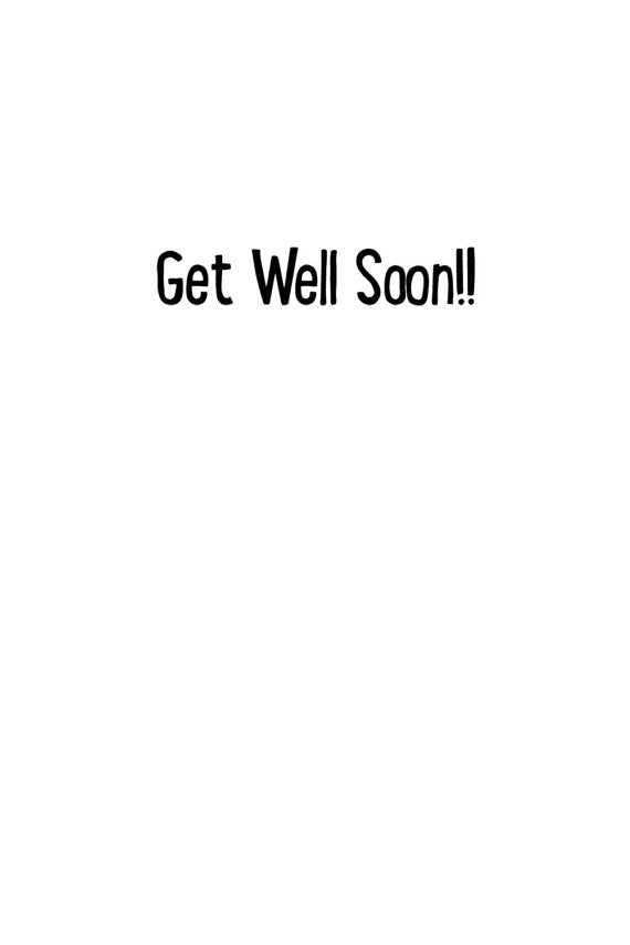 Little Face Get Well Card