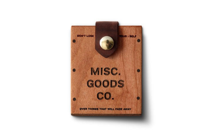Misc. Goods Co. Wooden Card Holder