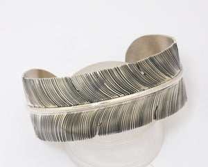 Wide Feather Cuff Bracelet by John Nelson