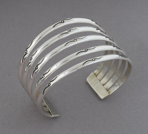 5-Band Sterling Silver Cuff Bracelet
