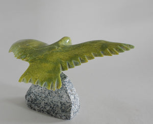 Flying Bird Sculpture by Donny Pitsiulak