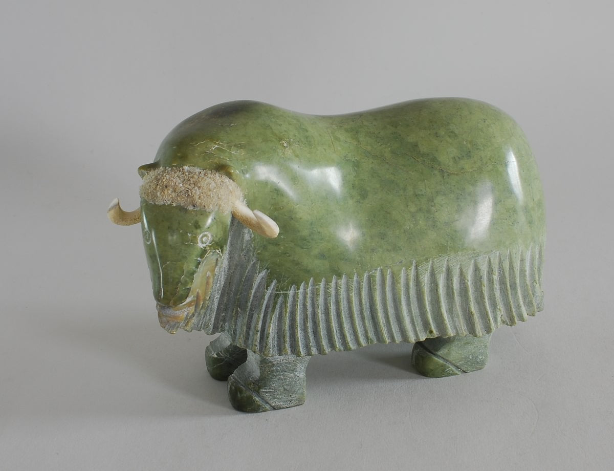 Musk-ox Sculpture by Simeonie Killiktee
