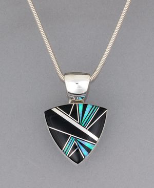 Large Triangle Pendant by Kenneth Bitsie