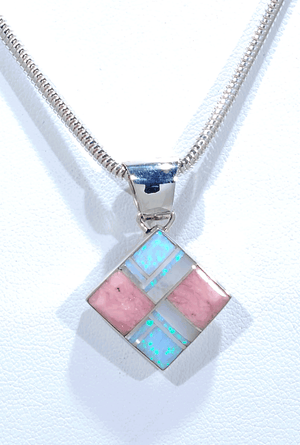 Pendant with Inlay by Sheryl Martinez