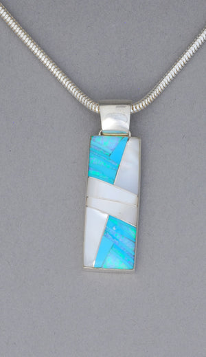 Pendant with Inlays by Sheryl Martinez