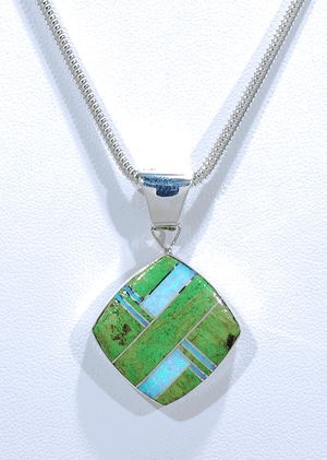 Pendant with Inlays by Cathy Webster