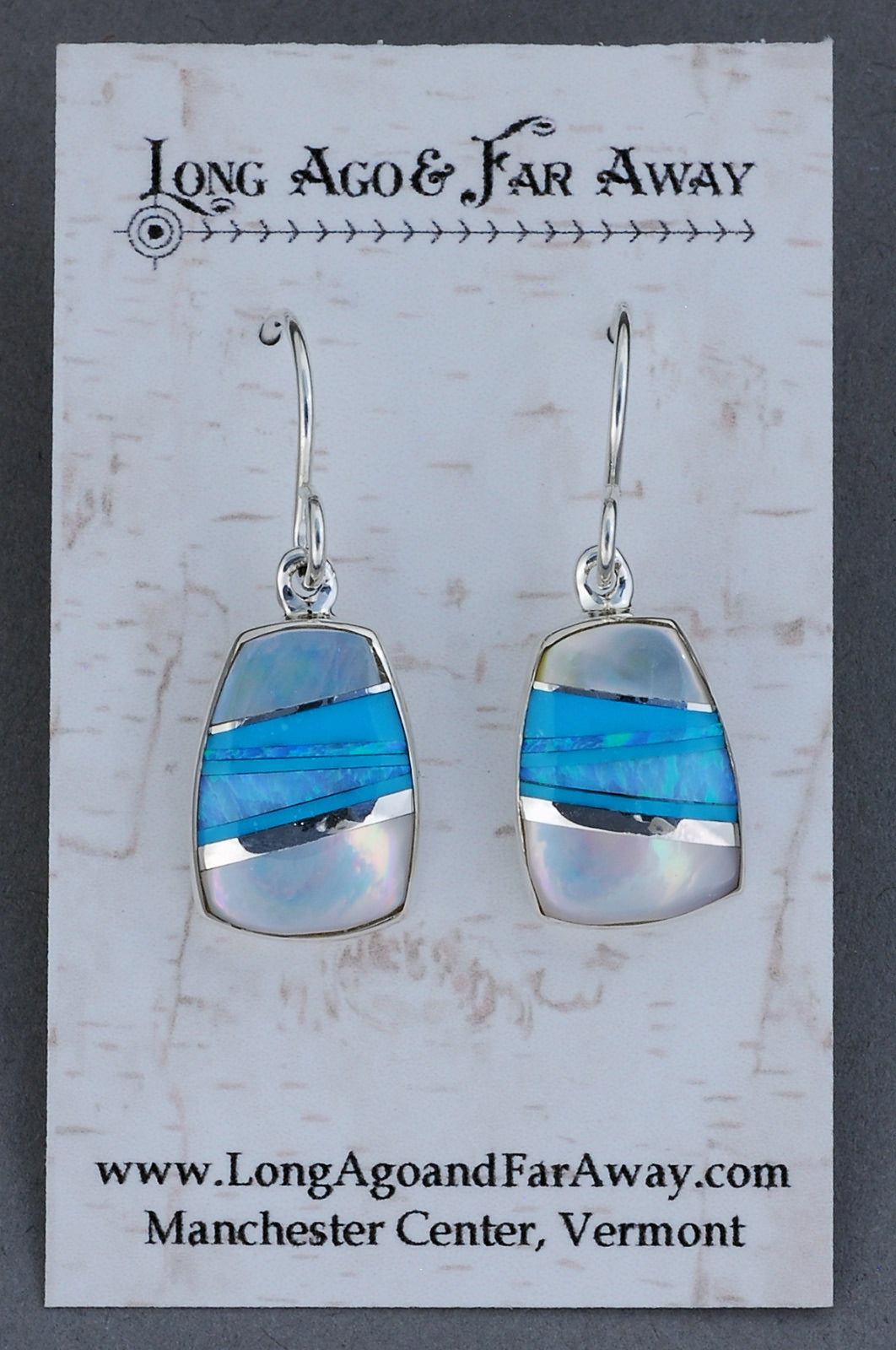Earrings with Inlay by Elsie Armstrong