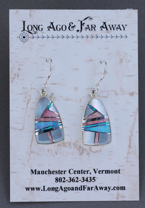 Earrings with Inlays by Johnny Charlie Nataali
