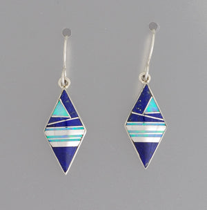 Diamond-Shaped Drop Earrings on Hooks by Cathy Webster