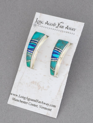 Earrings with Inlay by Cathy Webster