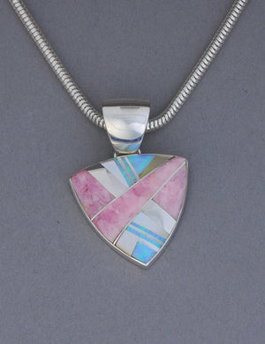 Pendant with Inlays by Kenneth Bitsie