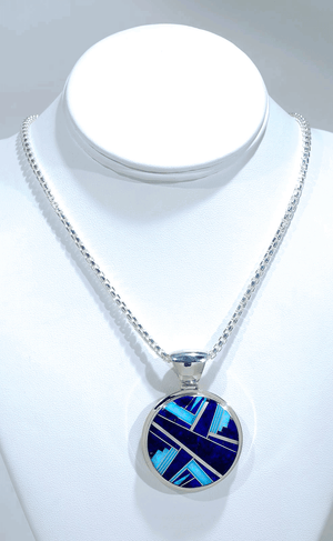 Pendant with Inlay by Kenneth Bitsie