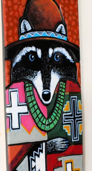 """Raccoon in Robe"" Painting by Leland Holiday"