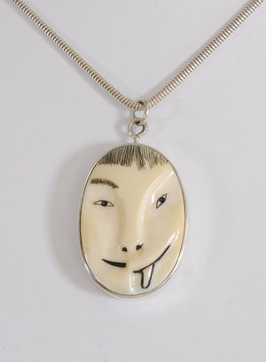 Half Man/Half Animal Mask Pin/Pendant by Denise Wallace