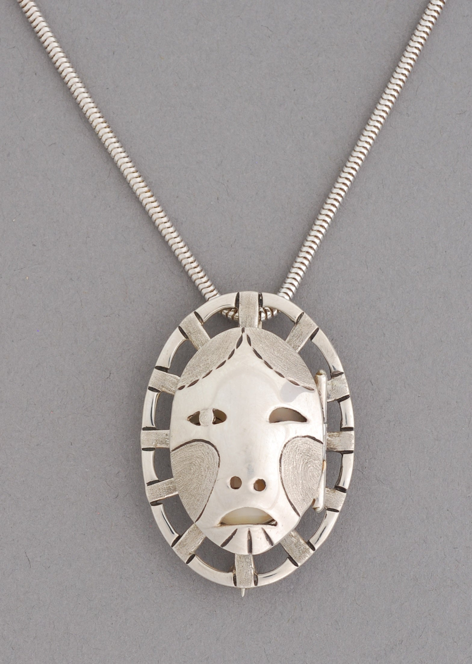 Woman In The Moon Pin/Pendant w/door by Denise Wallace