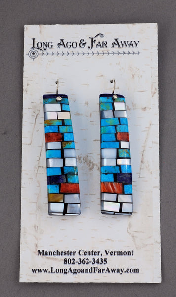 Earrings with Mosaic Inlay by Charlene & Frank Reano