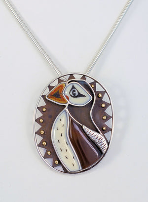 Dawn Wallace Puffin Pin/Pendant
