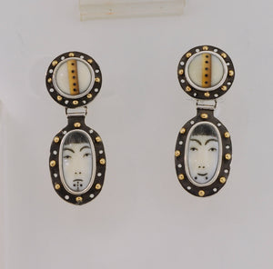 Denise Wallace Sun/Moon with Dangles Earrings #29/100