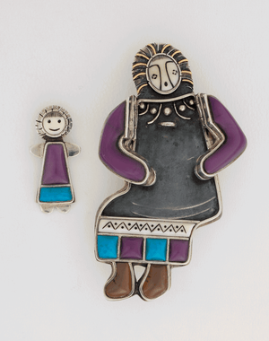 Dollmaker II Pin/Pendant by Denise Wallace (#3/5)