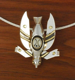 Yup'ik Dancer III with Mask Pin/Pendant by Denise Wallace (2007)