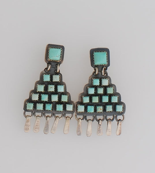"Turquoise ""Tier"" Earrings by Rosella Sandoval"