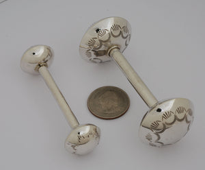 Rattle, Small Sterling Baby Rattle