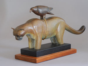 Cougar Fetish Bronze by Hib Sabin