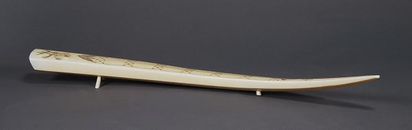 Walrus Tusk Cribbage Board by Herman Toolie