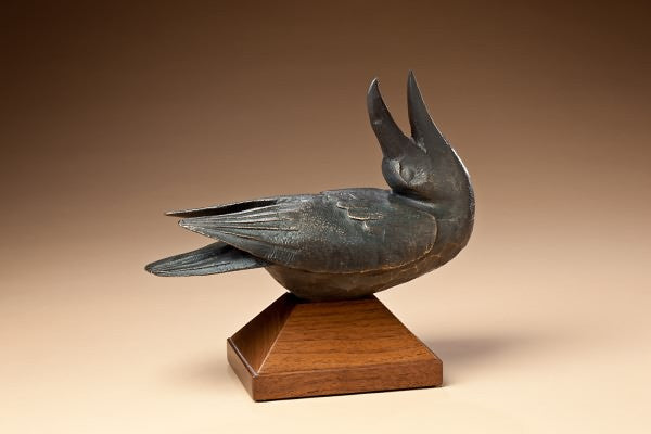 Singing Raven Bronze by Hib Sabin