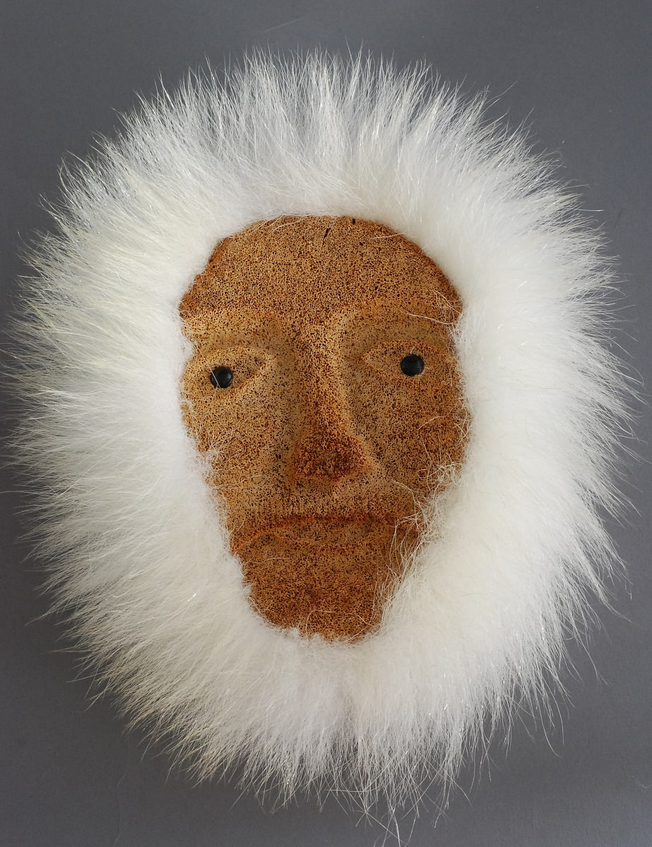 Mask, Whalebone w/Fur Trim  by Carson Oozeva